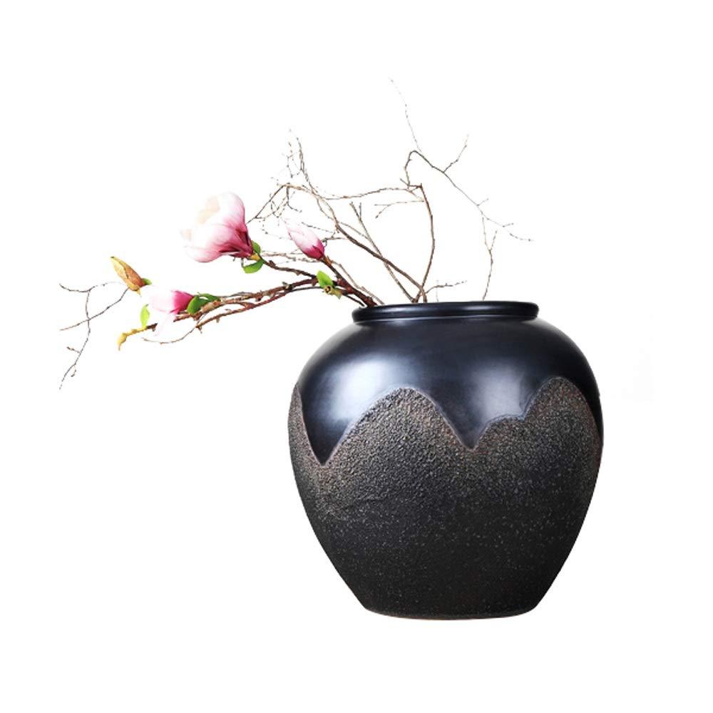 良い材料セラミック花瓶用花緑植物結婚式植木鉢装飾ホームオフィスデスク花瓶花バスケットフロア花瓶 B07RJ4BMK8
