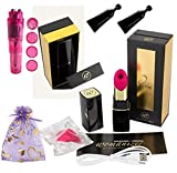 Womanizer [ 2-G-O Black ] Lip-Stick Design Sold By Authorized USA Dealer ( Also Includes B. Brand Bundle Kit )