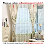 Aside Bside Rod Pocket Top Tiny Clove Printed Transparent Window Deocration Leisure Style Sheer Curtains For Kitchen Houseroom and Sitting Room (1 Panel, W 52 x L 63 inch, Green)