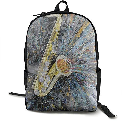 Fashion Art Music Jazz Saxophone College Student School Backpack KIDHJU Brand For Men's And Women - 349tg1u Storefront