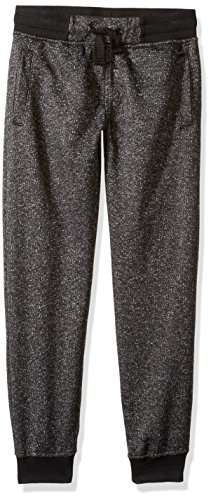 Southpole Boys' Big Jogger Pants in French Terry Basic Marled, Black, Small