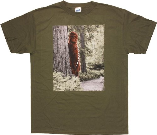 Star Wars Chewbacca Sasquatch T-Shirt X-Large Olive Green