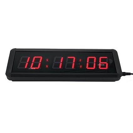 Amazoncom 15 6Digits LED Countdown Wall Clock Escape Room
