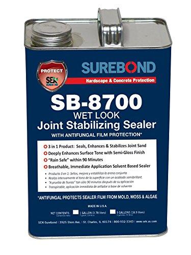 SEK Surebond SB-8700 G Wet Look JSS Antifungal Film Protection, Solvent-Based Acrylic Co-Polymer, Darkening (Joint Sealer Small)