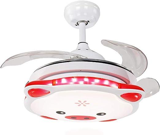 ZXXDM Luz de Ventilador de Techo Invisible LED de 36 Pulgadas luz ...