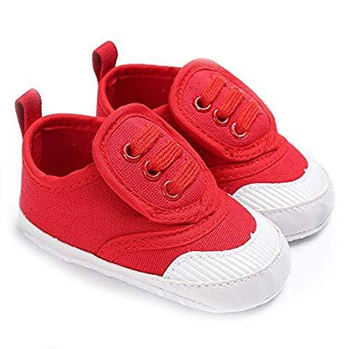 Save Beautiful Toddler Baby Girls Boys Shoes Infant First Walkers Sneakers (0-6 Months, A-red)