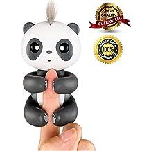 [Patrocinado] Dedo Panda, Smart Interactive Electronic Panda de peluche para niños bebé, regalo de Navidad, Negro