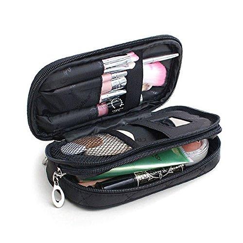 Bureze Honana Hn-b56Portable 2couches de voyage Sac de rangement coloré Organiseur de maquillage trousse de toilette Stora
