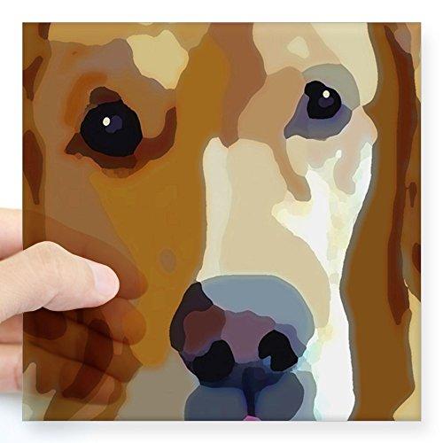 CafePress Golden Retriever Square Sticker 3