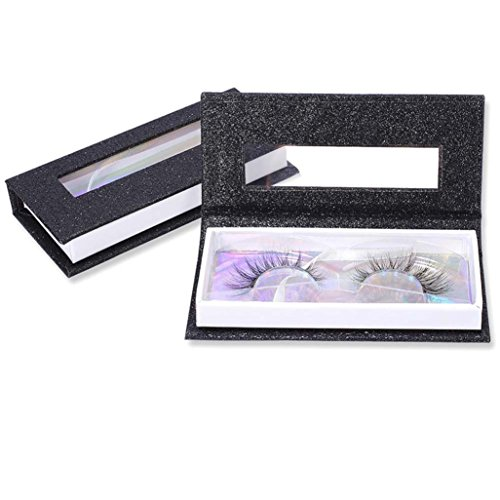 Exteren Empty False Eyelash Care Storage Case Box Container Holder Compartment Tool Fake Eyelashes (Black)