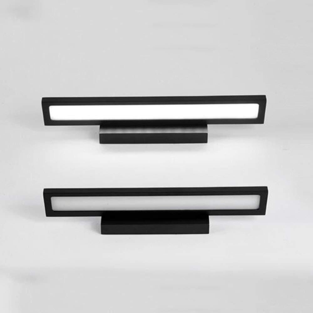 JQD Hauptbadezimmer-Spiegel-Scheinwerfer 9W führte Badezimmer Lightingmodern zeitgenössisches geführtes integriertes Metallweißes Licht warme Glühlampe eingeschlossen, Spiegel-Scheinwerfer