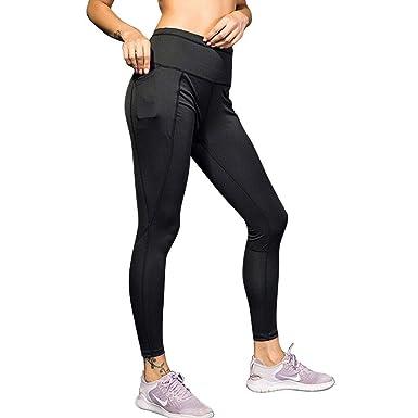 Mujer Patchwork Cintura Alta Pantalones Deportivos Leggings ...