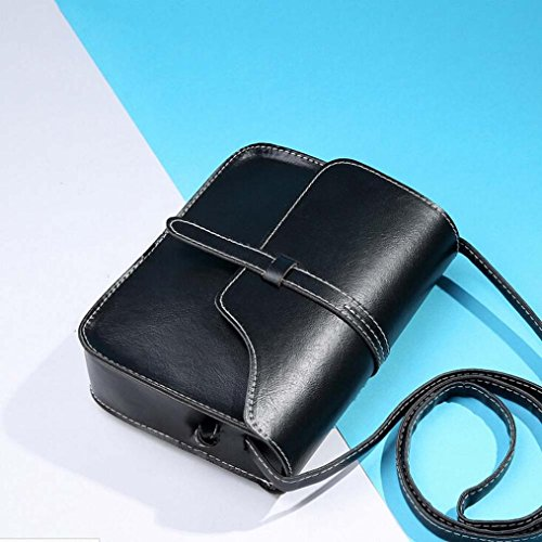 Leather Bag Black Bag Paymenow Little Crossbody Bag Shoulder Messenger Handle Cross Shoulder Body Leisure FzRAwg6q