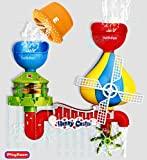 Playboom Baby Bath Toy -Waterfall Water Station with 5 Stackable Cups Enhance Your Baby's Thinking Ability and Creativity Great Bathtub Toys for Boys - Girls-Toddlers