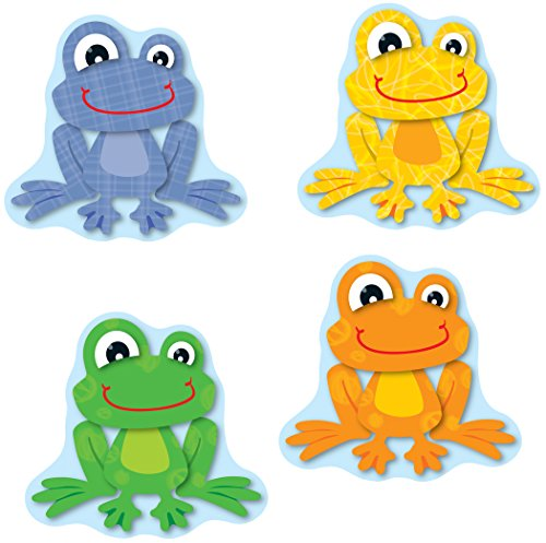 Carson Dellosa Funky Frogs Cut-Outs - Name Tags Fun Frogs