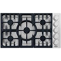 DCS CDV365L 36 Stainless Steel Liquid Propane Sealed Burner Cooktop