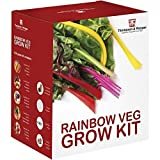 Rainbow Vegetable Seed Growing Kit Gift Box - 5 Vibrant Varieties of Veg to Grow; Carrot, Radish, Beetroot, Chard & Tomato Seeds by Thompson & Morgan