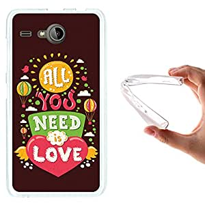 WoowCase - Funda Gel Flexible { Acer Liquid Z520 } Frase con Corazón - All You Need is Love Carcasa Case Silicona TPU Suave
