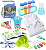 UNGLINGA Kids Science Experiment Kit with Lab Coat Scientist Costume Dress Up and Role Play Toys Gift for Boys Girls Kids Age 3 - 11