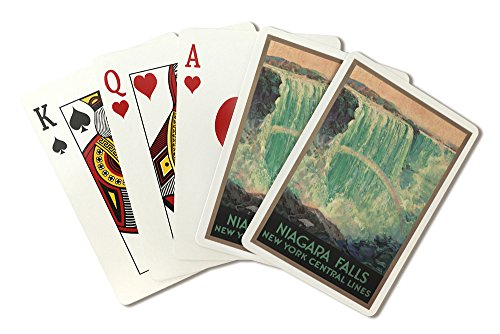 Niagara Falls - New York Central Lines Vintage Poster (artist: Madan, Frederic) USA c. 1924 (Playing Card Deck - 52 Card Poker Size with Jokers)