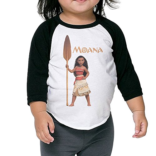 Caromn Kids Child Moana Action Figure Baseball Jersey T-Shirt 3 Toddler