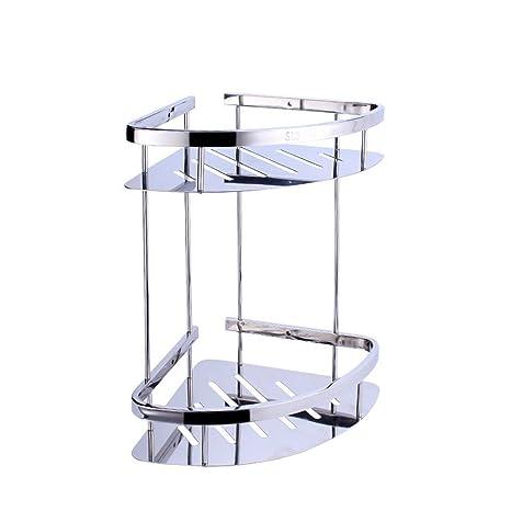 teerfu baño esquina estante soporte de pared de acero inoxidable 304 ducha de esquina estantes para esquina de cocina Sticky estantes, acero ...