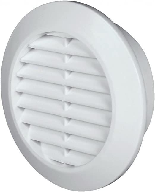 di/ámetro 45 mm redonda Rejilla de ventilaci/ón 2 unidades blanco T73w