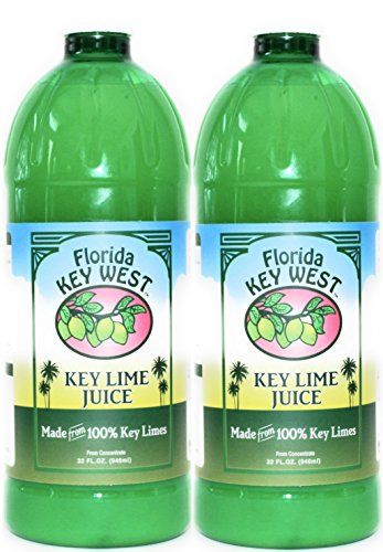 100% Authentic Key Lime Juice - 32oz (2 Pack)