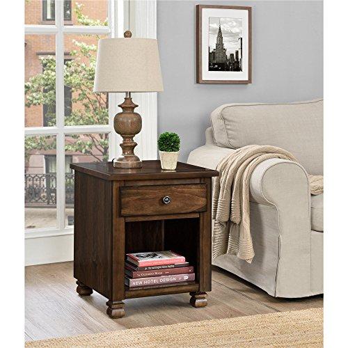 Ameriwood Home San Antonio Veneer Wood End Table, Espresso (Furniture San Antonio Rustic)
