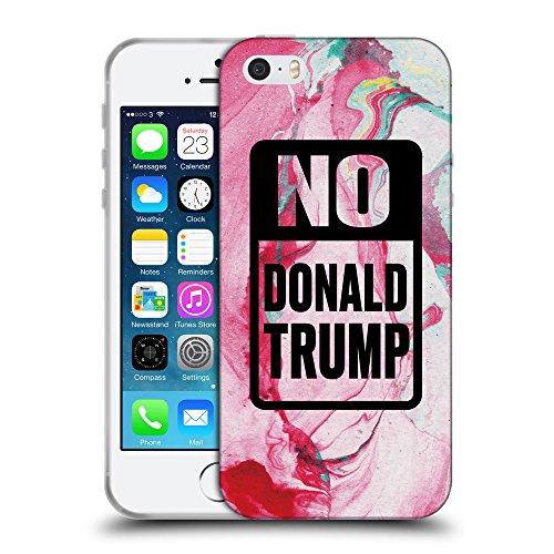 Super Galaxy Coque de Protection TPU Silicone Case pour // Q04150520 Arrêtez Trump renaissance // Apple iPhone 5 5S 5G SE