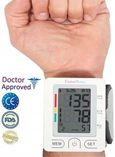 Blutdruckmessgerät für das Handgelenk – ärztlich getestet und genehmigt; präzise Blutdruckergebnisse, kontrolliert normalen und unregelmäßigen Puls, bzw. unregelmäßige Herz-und-Gedächnis-Funktion. Das Gerät kontrolliert hohen und niedrigen Blutdruck, kurz gesagt: alle Funktionen. Einfach im Gebrauch zu Hause und auf der Reise.