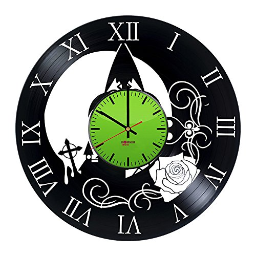 Sheik Costume Legend Of Zelda (Legend of Zelda Vinyl Record Wall Clock - Get unique living room or bedroom wall decor - Gift ideas his and her – Video Game Symbols Unique Art)