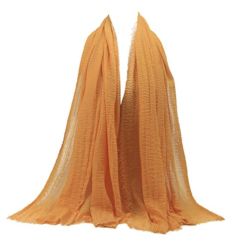 Womens Shawl,KIKOY Premium Viscose Maxi Crinkle Cloud Hijab Scarf Soft Islam Muslim (Accessories : Clothing Khaki Womens)