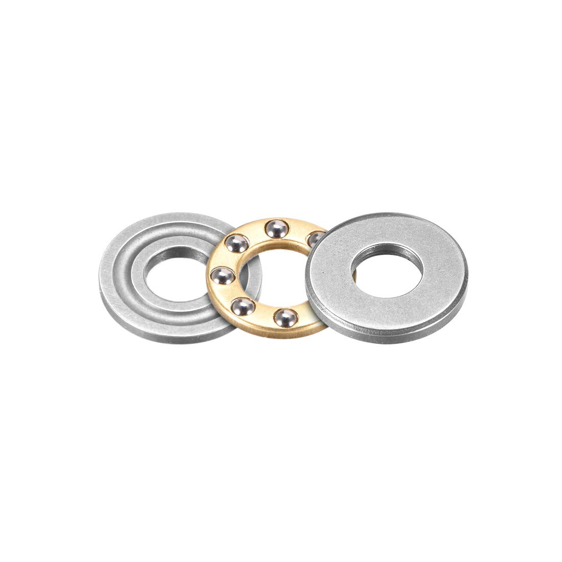 sourcing map 51102 Single Direction Thrust Ball Bearings 15mm x 28mm x 9mm Chrome Steel Pack of 2