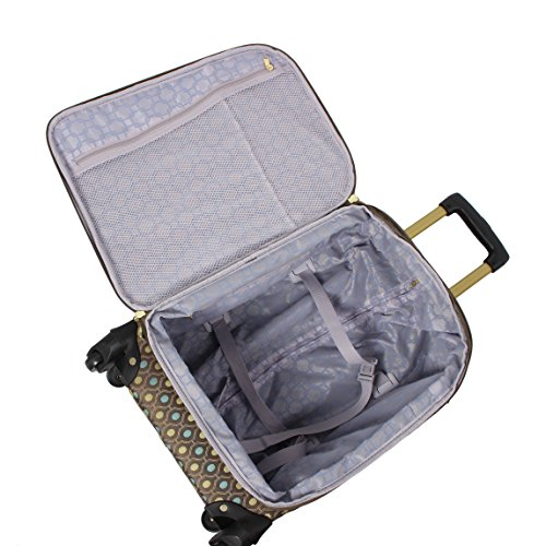 1a8c65727fed Rosetti Luggage Set 4 Piece Expandable Softside Suitcase With Spinner Wheels