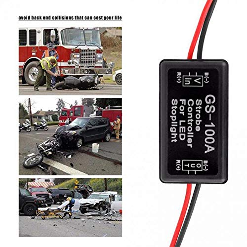 12-24V GS-100A Flash Strobe Controller Box Flasher Module for LED Brake Tail Stop Light