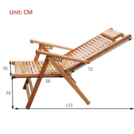 Amazon.com: MEIDUO Rocking Lounger Bamboo Recliner Balcony ...