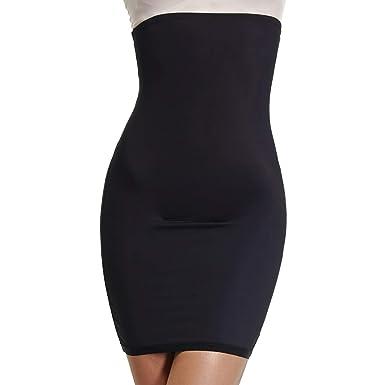 6bcb935a8 Joyshaper Half Slip for Under Dresses Women High Waist Shapewear Seamless Tummy  Control Slimming Skirts (