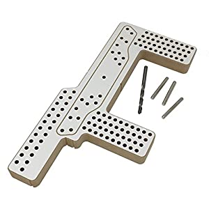 Hardware Horse Drill Jig Furniture Handle Installation Template for Cabinet Knobs & Pulls Alignment Guide for Doors & Drawers