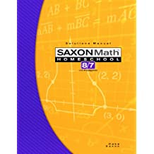 Saxon Math 8/7 with Prealgebra: Solutions Manual