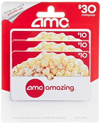 Amazon.com: AMC Theatre Gift Cards, Multipack of 3 - $10: Gift Cards