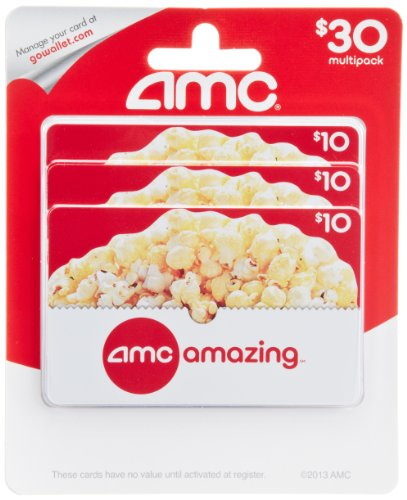 Amc Theatre  Gift Cards  Multipack Of 3    10