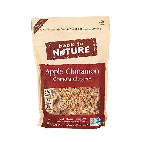 - Back to Nature Apple Cinnamon Granola Clusters, 11 Ounce - 6 per case.