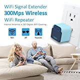 WiFi Range Extender 300Mbps Mini WiFi Signal Booster Amplifier Supports Repeater/Access Point Mode Extends WiFi with Wall Plug Design by INFELING