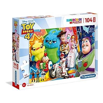 Clementoni Supercolor Puzzle Toy Story 4 104 Maxi Pezzi Multicolore 23741