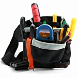 Maintenance Tool Pouch, 7 Pockets Portable Multifunction Carrying Tool Bag with Adjustable Waist Straps, Water Proof, Wear-Resisting and Durable for Home, Industries and Poor Working Environment