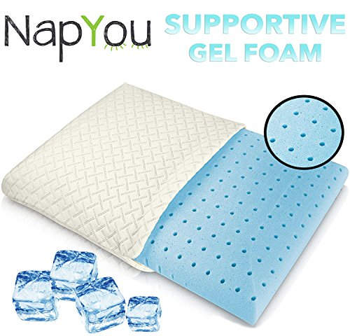 NapYou-Amazon-Exclusive-Ventilated-Cooling-Gel-Memory-Foam-Bed-Pillow-with-AirCell-Technology-Cool-Washable-Cover