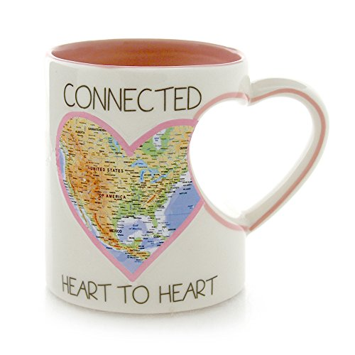 """Our Name is Mud """"Connected Heart to Heart"""" Stoneware Mug, 12 oz."""