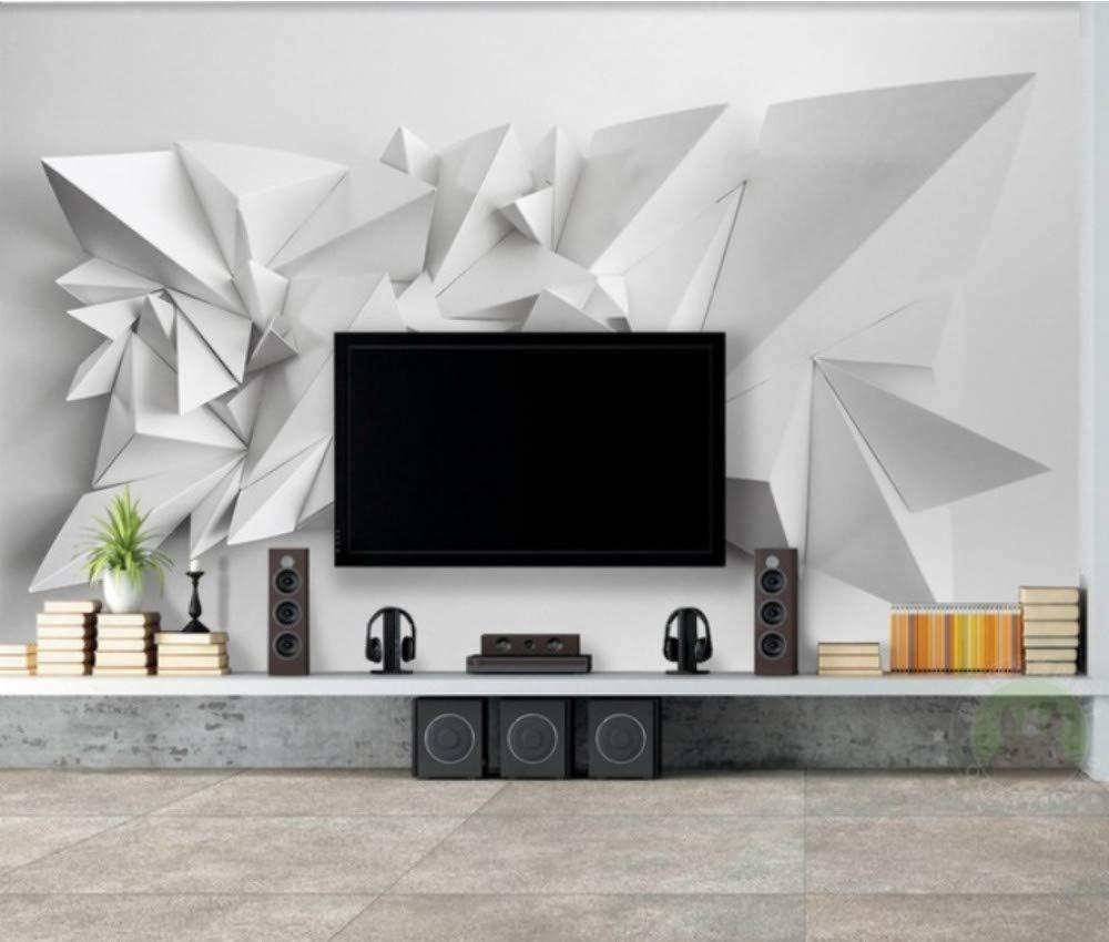 Keshj Benutzerdefinierte Foto Moderne Einfache 3D Dreieck Tv Hintergrund Wandbild Tapete Für Wohnzimmer Wände Hochzeit Raumdekoration-250cmx175cm