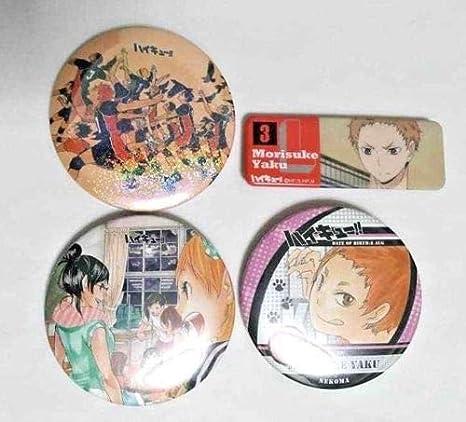 Amazon com: Haikyuu Can Badge Button x4 Morisuke Yaku Kiyoko